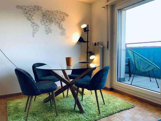 Moderne appartement en rooftop - magnifique vue