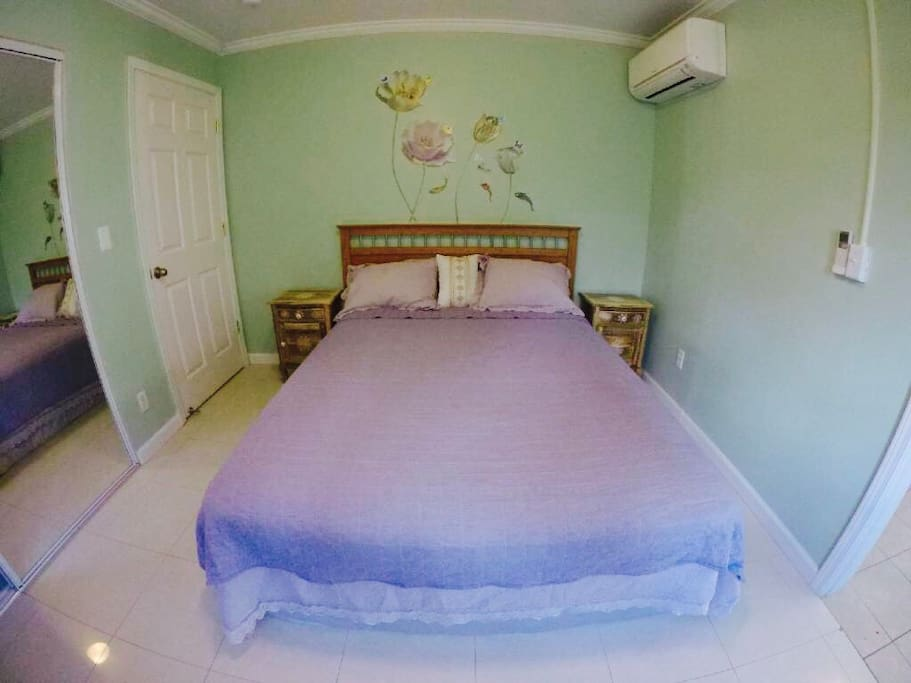 bedroom and bed