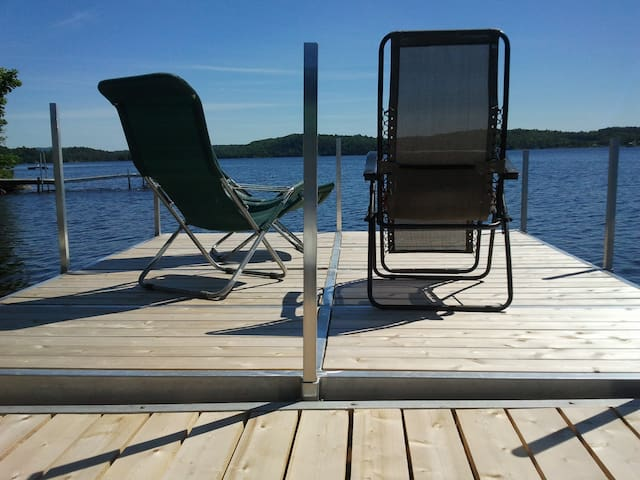 Lac Ste. Marie scenic waterfront cottage