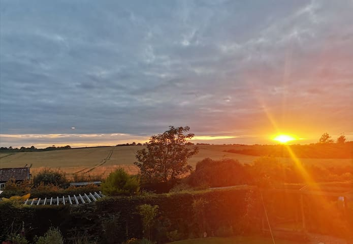 A Suffolk stay with a stunning sunset