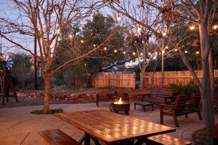 Stylish Southwest Home w/ Rustic Windmill Terrace