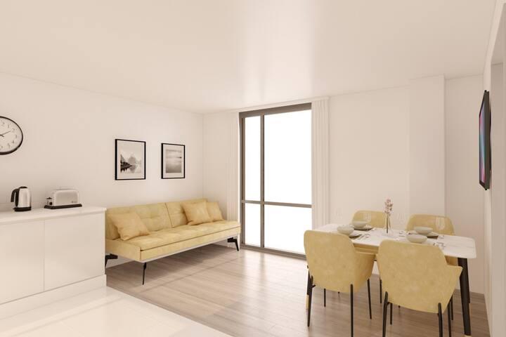 Luxury Penthouse 1 Bedroom Apartment - sleeps 4