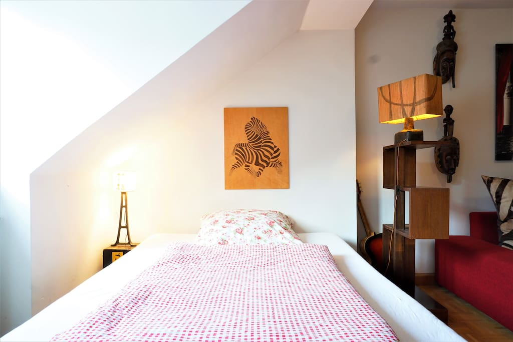 The cozy double bed will be prepared with fresh lining & sheets.