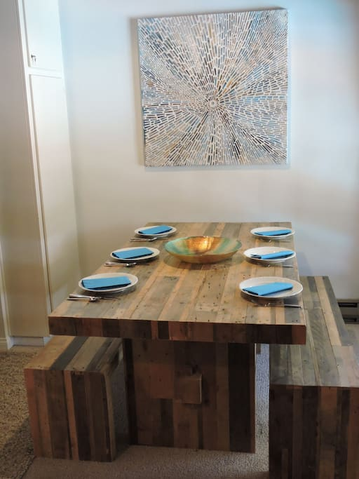 Enjoy gourmet meals in your custom dining room!