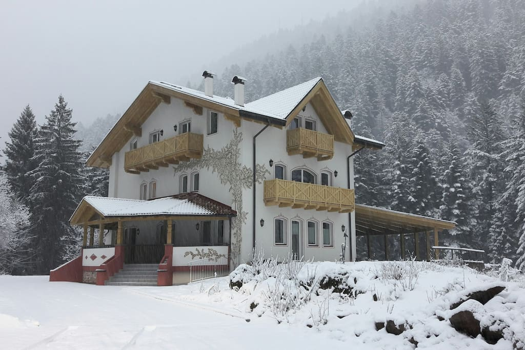 Residence Genzianella. D'inverno - Winter view