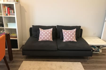 Comfortable modern bedroom with double bed - New Barnet