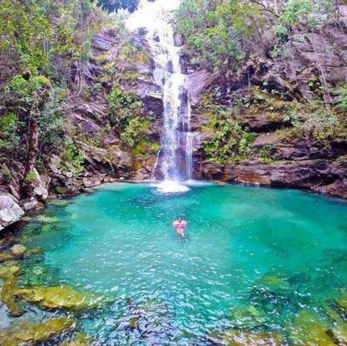 Cachoeira Santa Bárbara, (comunidade Kalunga).