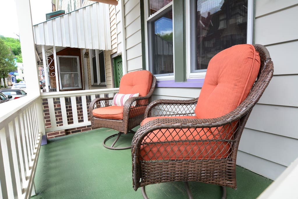 Front porch - ideal for your morning coffee!
