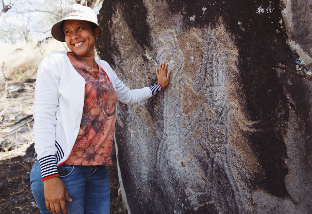 Take a guided hike to nearby pre-Colombian petroglyphs!