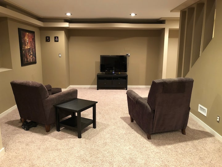 Warm and welcoming; full lower level of home
