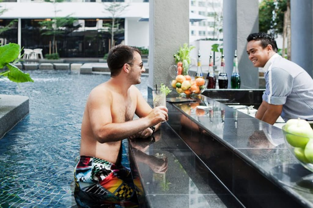 Bar by the pool!