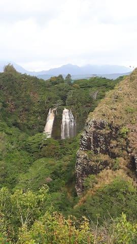 Spectacular Opaekaa falls