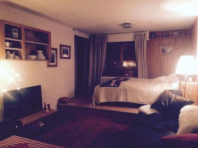 Big Studio Central Verbier sleeps 4 - Bagnes - Apartamento