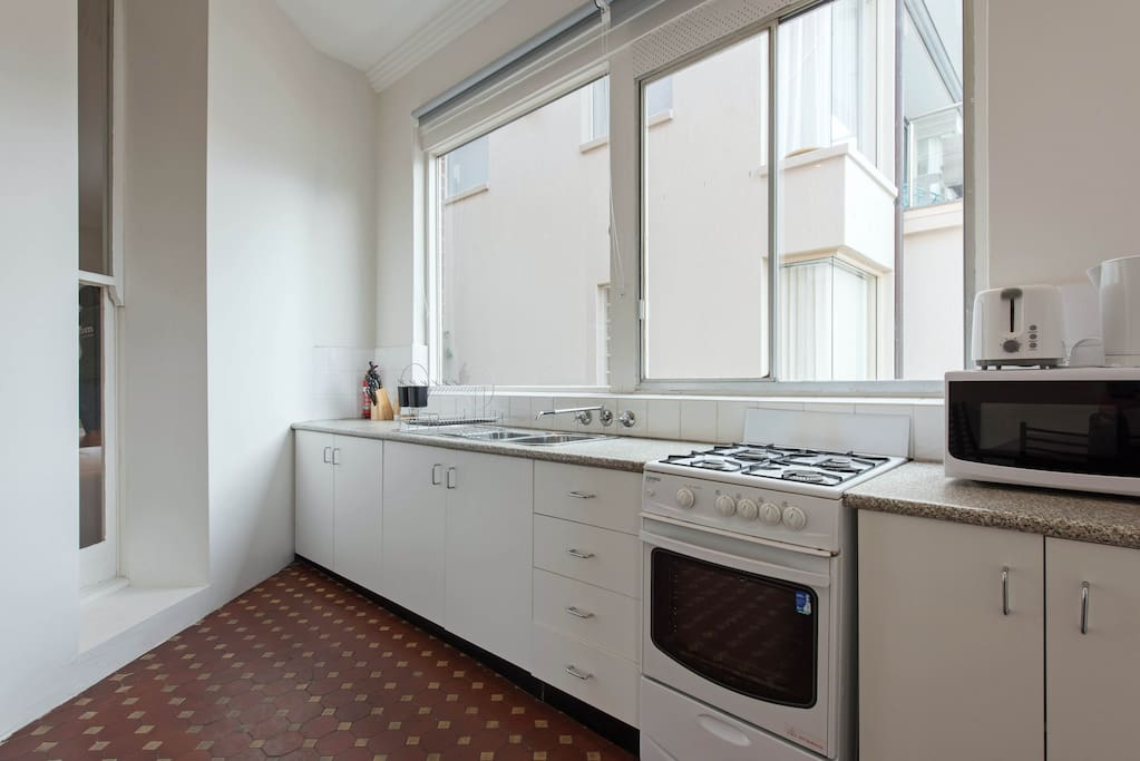 Large kitchen space, with everything you need to need to cook your favourite meal.