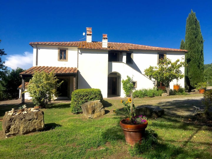 Spacious Villa for groups with swimming pool overlooking Orcia Valley
