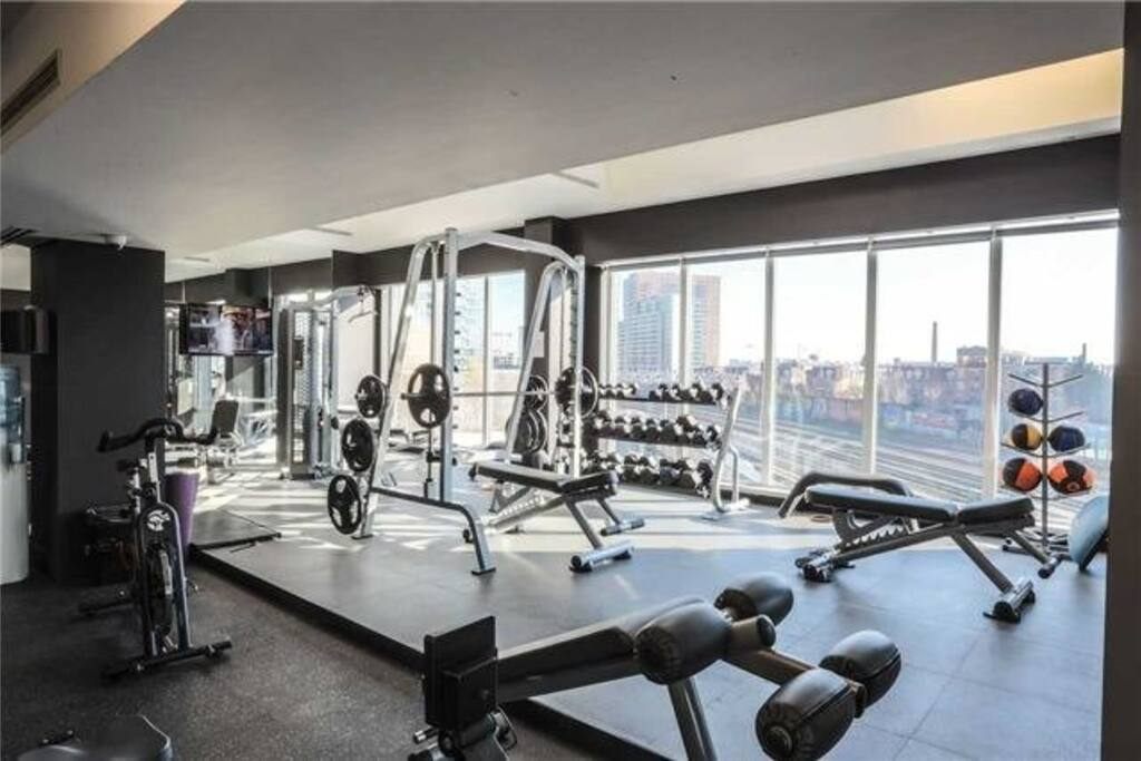 Full gym with yoga room