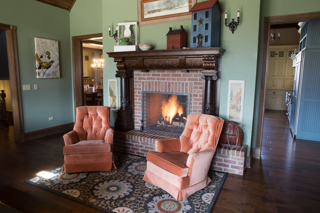 Family Two-Sided Fire Place