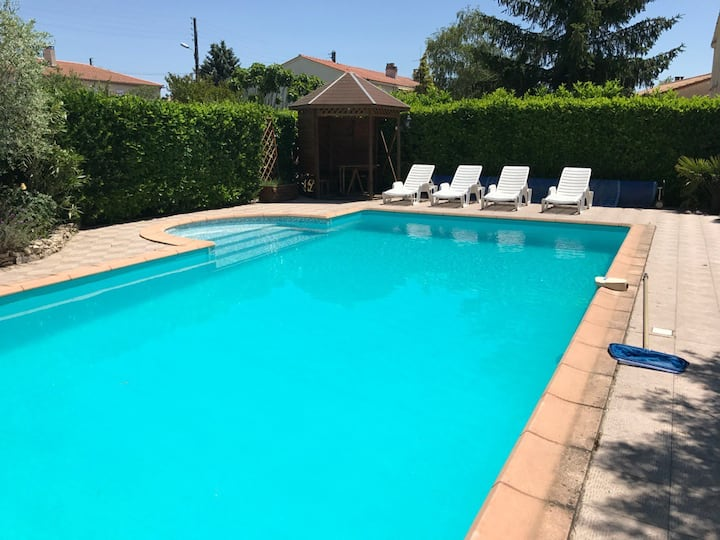 Stone built house 4 bedrooms pool near Carcassonne