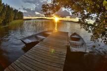 Двухместный экодомик на берегу озера Зеркальное