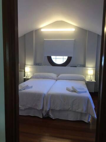 Habitación para 4 en villa a 17km de San Sebastián