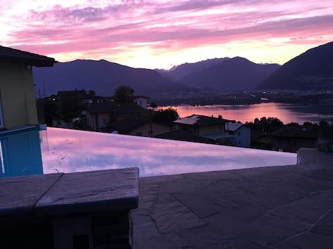 Traumvilla mit Pool in Piazzogna,Gambarogno Ticino