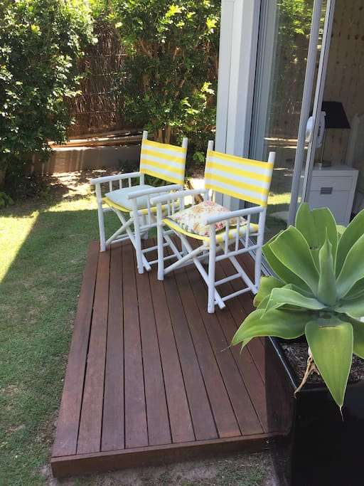 Deck with outdoor chairs