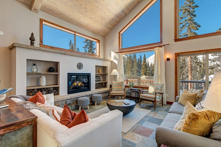 Stunning Breckenridge Mountain Views, Modern Luxury and Secluded Private Home! NorthStar Chalet