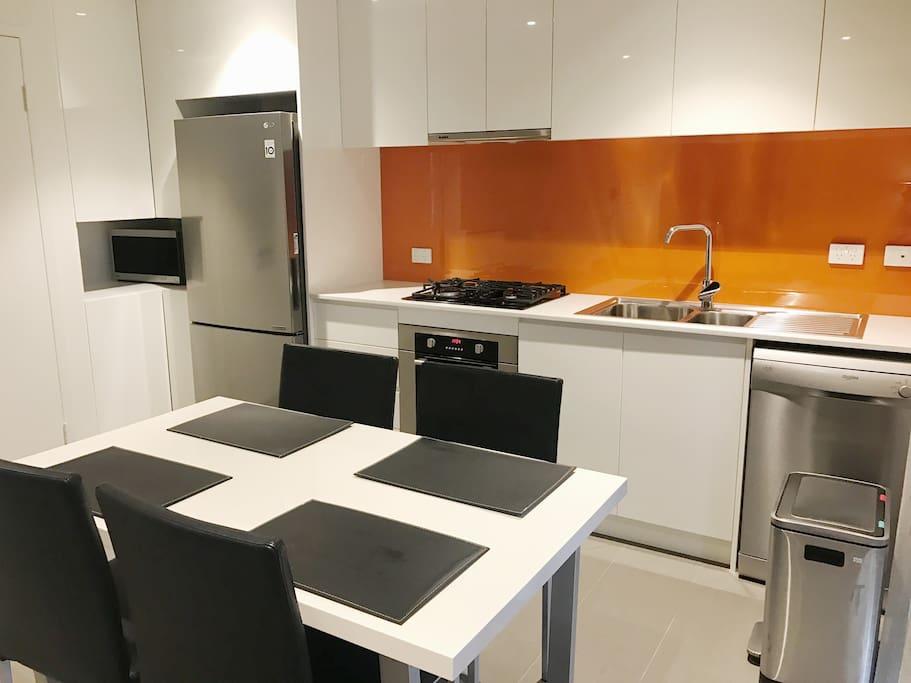 Modern sleek contemporary kitchen
