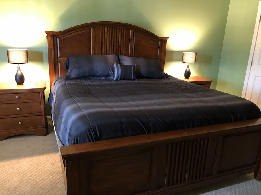 Large downstairs king bedroom with private bathroom.