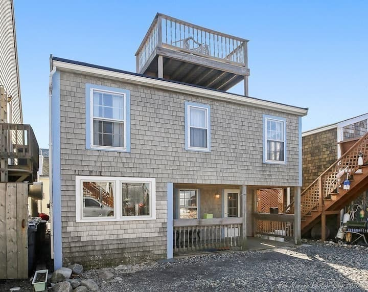 Ocean front cottage turned modern retreat