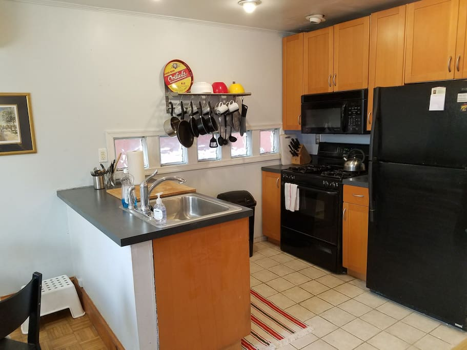 Small kitchen - but with all appliances including dishwasher