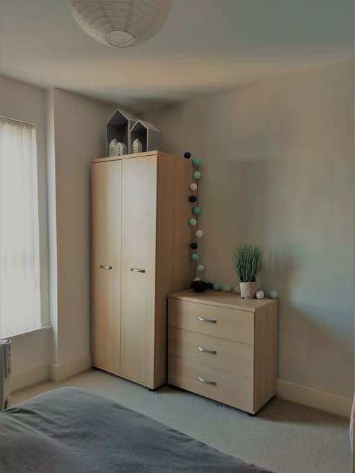 Drawers and closet space for you to use