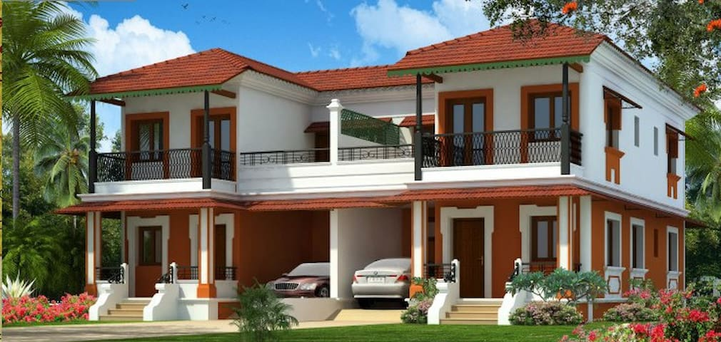 Min. 1 Yr Rent-3BHK Villa in Divar Island Goa - Goa - Villa