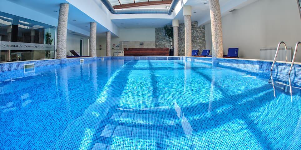 panoramic roof swimmg pool
