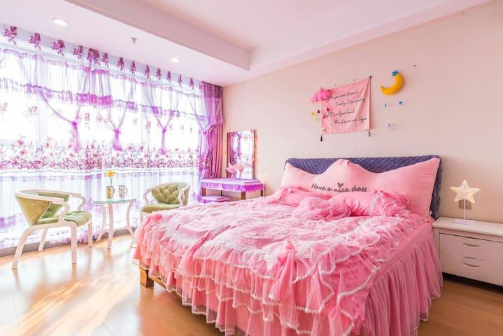 万达广场鄞州中心☞紫色女王^O^幽梦柔情小筑,温馨幽静私密空间