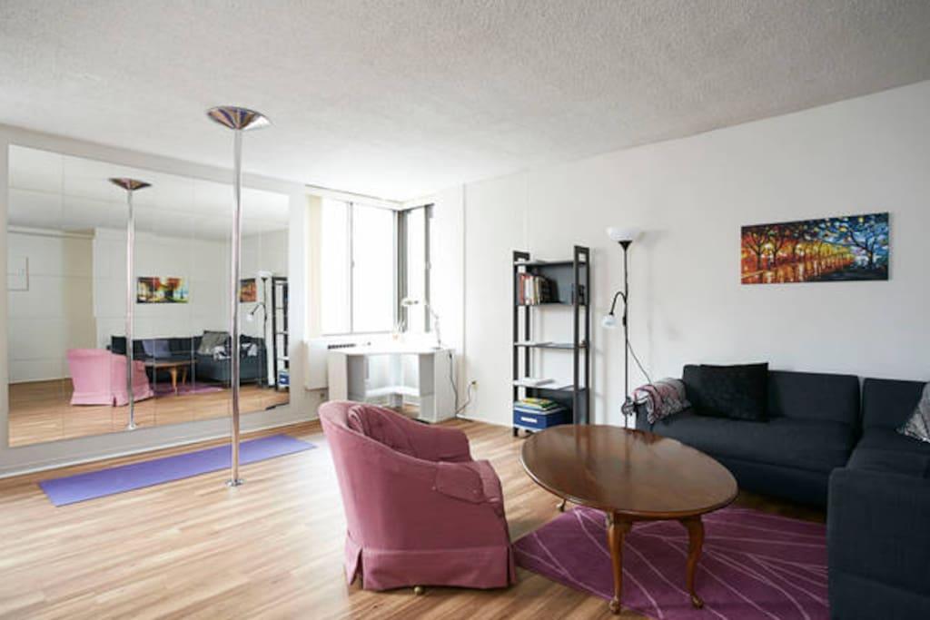 Living Room, Corner Desk, Dance Studio