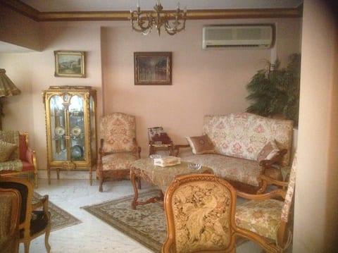 Duplex for rent on Zamalek, Cairo, Egypt.