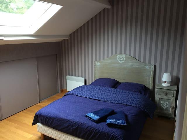 Chambre avec salle de bain privée - Saint-Mars-la-Brière - Maison