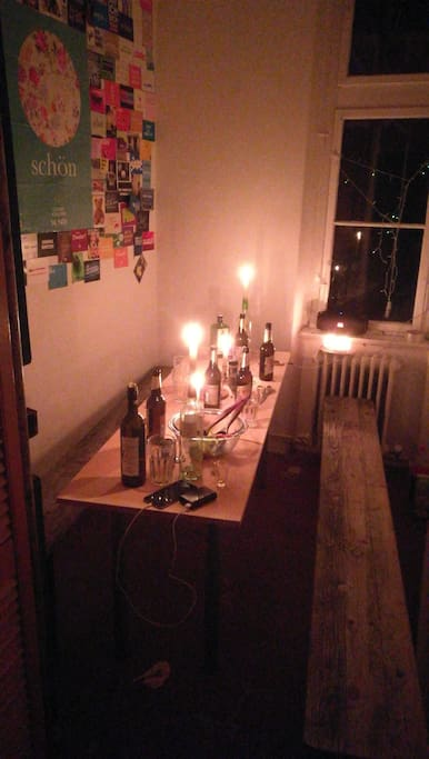 unser kleines Esszimmer.  our little dining-room
