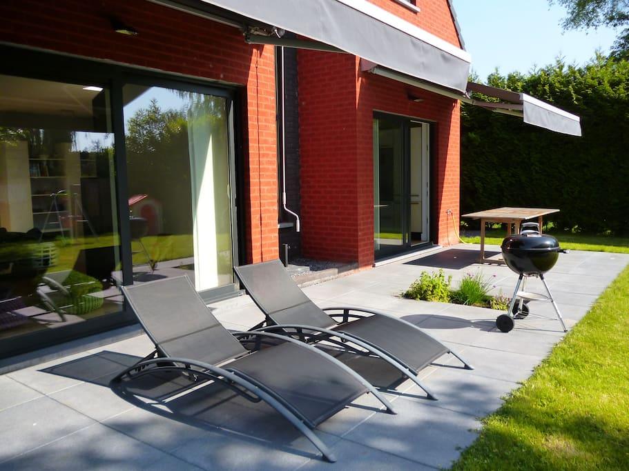 Terrasse de 30 m2, très agréable!