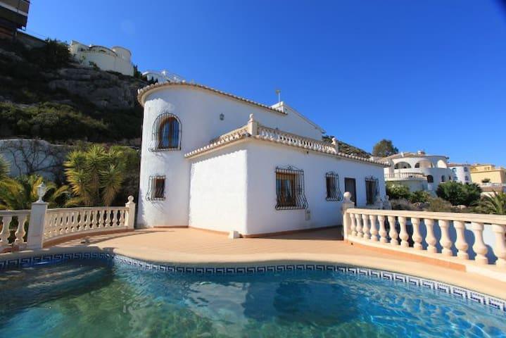 坐拥超级海景自带泳池的小别墅 - Benitachell - Haus