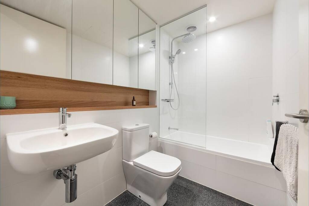Your own toilet/shower/bath.