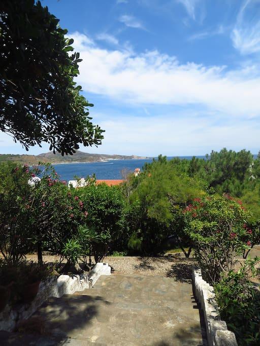 Villa Le Petit Troc - vue de la terrasse