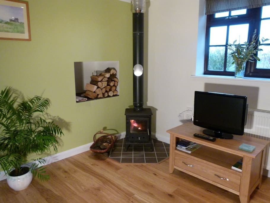 Wood burner - really cosy in the winter!