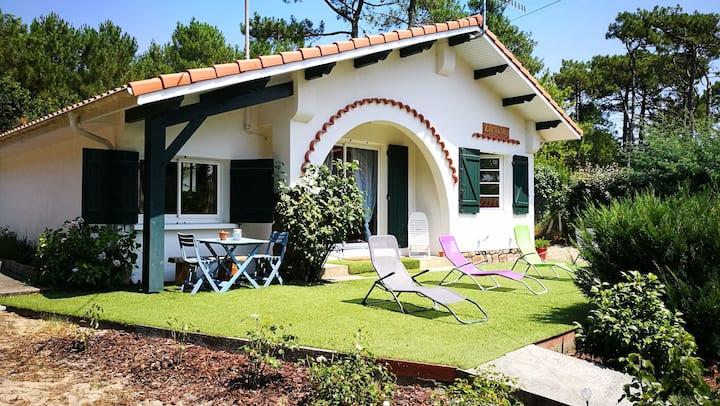 Maison landaise 3* en bordure de forêt/1,5km plage