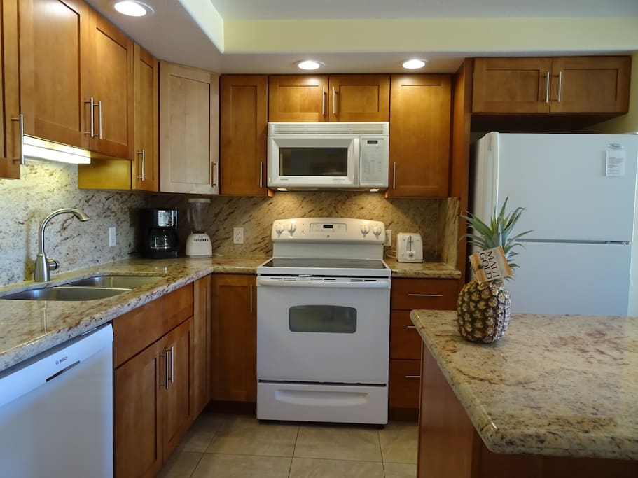 Remodeled, fully equipped kitchen