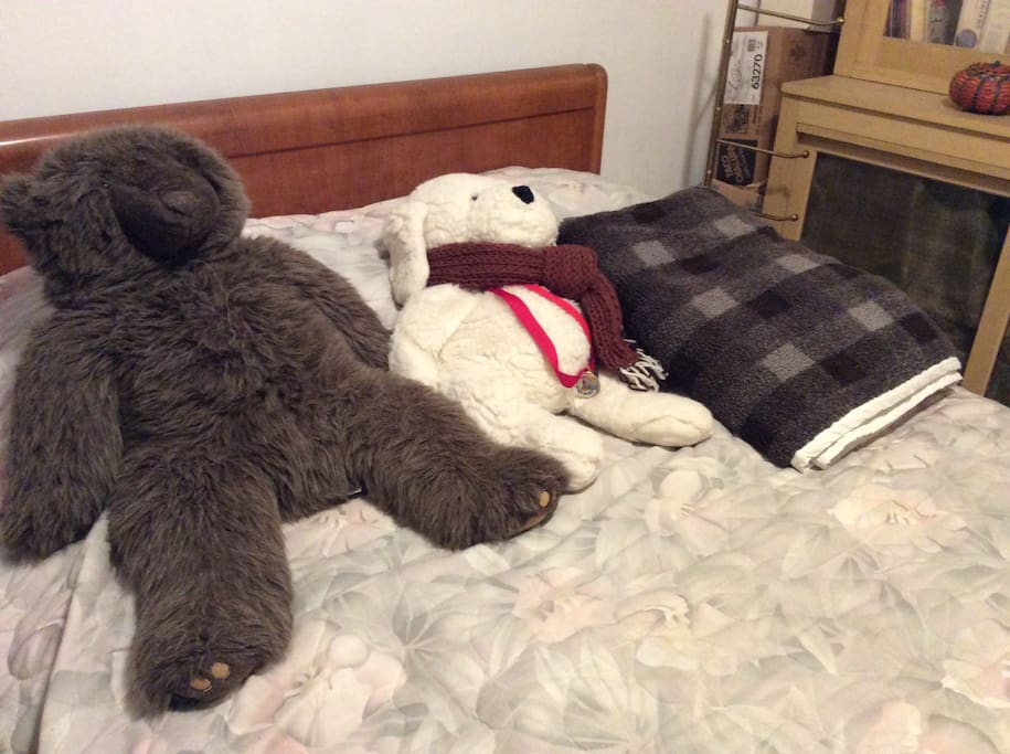 this is the full sized bed. the bear buddies will not bite!