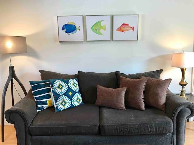 Comfy couch.
