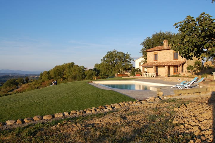 The holiday rental with pool in front when it was just finished (Sept 2015)