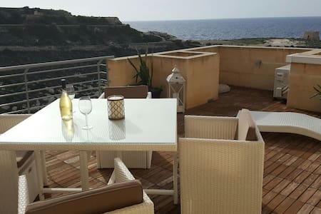 Apartment with exceptional sea and cliff views - Munxar - Apartment